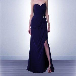 Bill Levkoff Asymmetric Chiffon Bridesmaid Gown